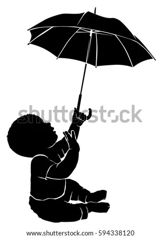 children s beach chair with umbrella yoga videos silhouette child vector stock images, royalty-free images & vectors | shutterstock