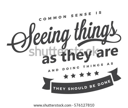 Common Sense Stock Images, Royalty-Free Images & Vectors