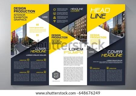 Business Brochure Flyer Design Leaflets 3 Stock Vector 648676249