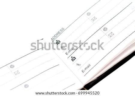 Blank Prescription Form Curled Edge Pad Stock Vector