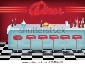 diner cartoon american inside restaurant burger retro drive floor counter soda keywords suggestions related
