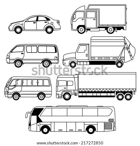 Van Outline Stock Images, Royalty-Free Images & Vectors