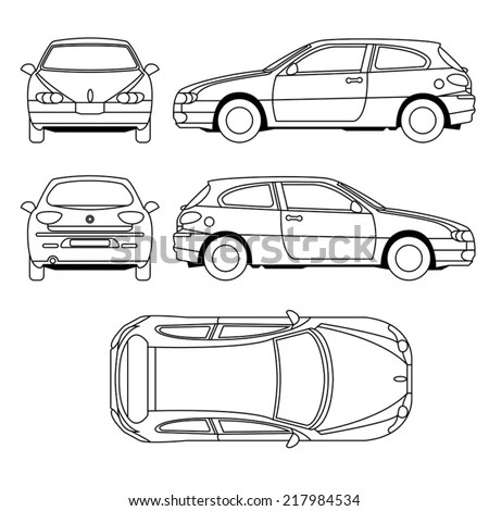 Car Vehicle Damage Diagram, Car, Free Engine Image For
