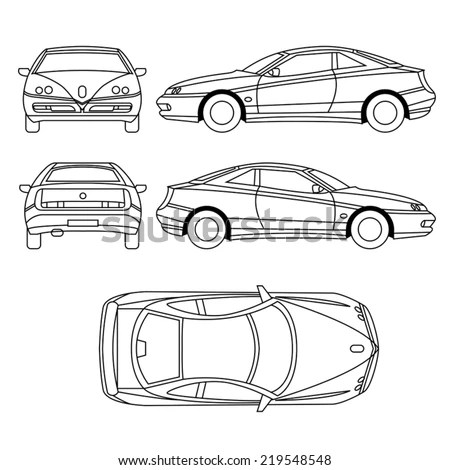Car Condition Form Vehicle Checklist Auto Stock Vector