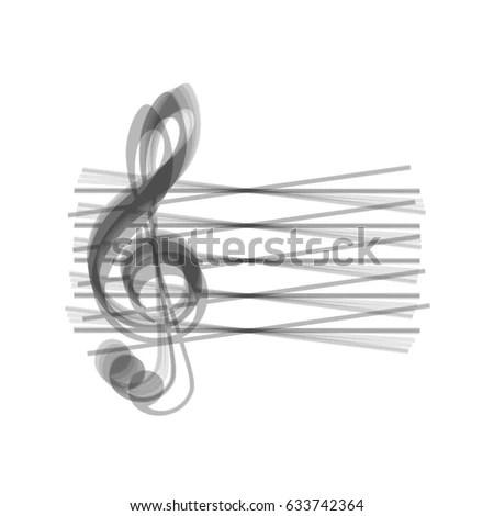 Music Keys Notes Abstract Emblem Logo Stock Vector