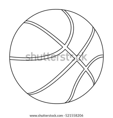 Basketball Icon Outline Single Sport Icon Stock Vector
