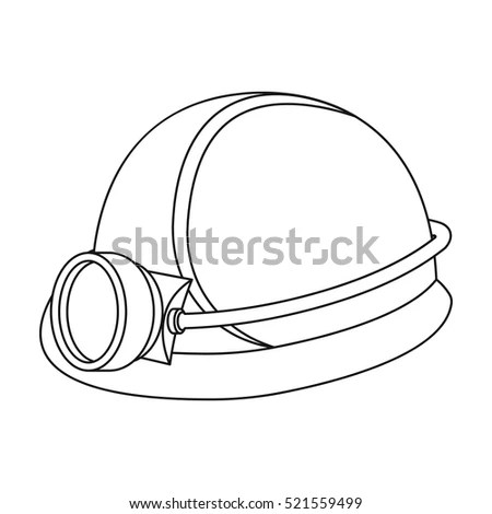 Miners Helmet Icon Outline Style Isolated Stock Vector