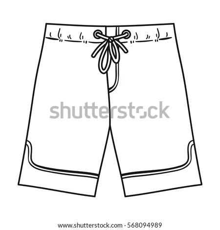Swimming Trunks Icon Outline Style Isolated Stock Vector