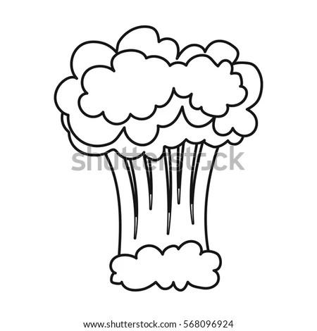 Cartoon Explosion Mushroom Cloud Stock Vector 230522989