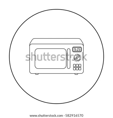 Simple Hand Drawn Doodle Microwave Stock Vector 386078434