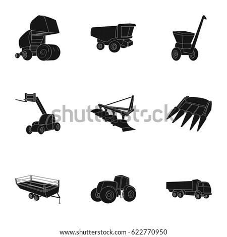 Set Pictures About Agricultural Machinery Cars Stock