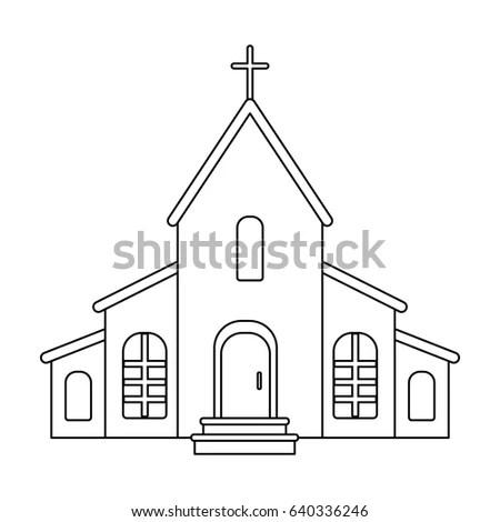Church Cross On Roof Easter Single Stock Illustration