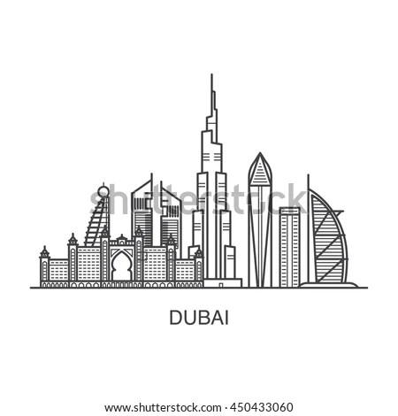 United Arab Emirates Coloring Page Sketch Coloring Page