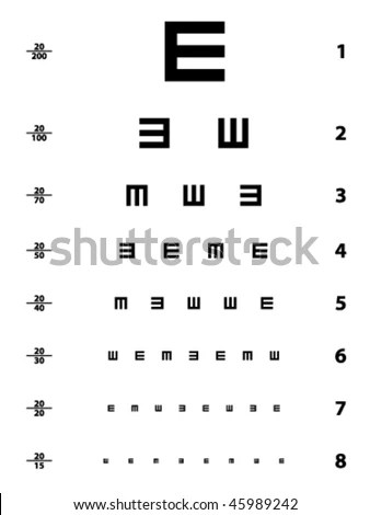 Eye-chart Stock Images, Royalty-Free Images & Vectors