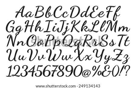 3 D Poster Bold Classic Style Fontภาพประกอบสต็อก 249134143