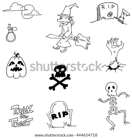 Pirates Accessory Set Icon Vector Illustration Stock