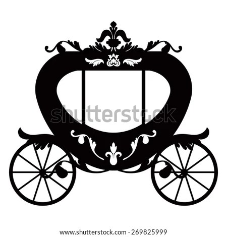 Vector Illustration Brougham Baroque Style Vintage Stock