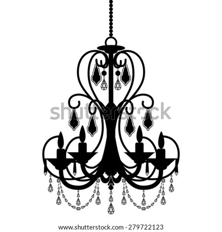Chandelier Silhouette Stock Images, Royalty-Free Images