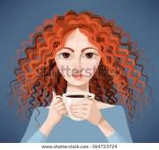 curly hair vector stock