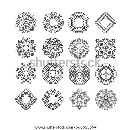 Magic Geometry Signs Collection Runes Alchemy Stock Vector