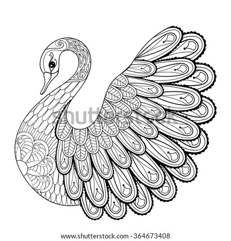 Illustrated Swan Tattoo Stock Photos, Images, & Pictures