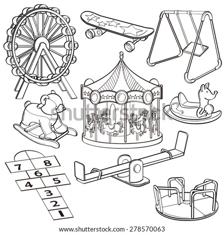 Playground Outline Stock Images, Royalty-Free Images