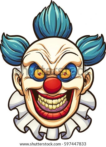 scary clown stock royalty-free