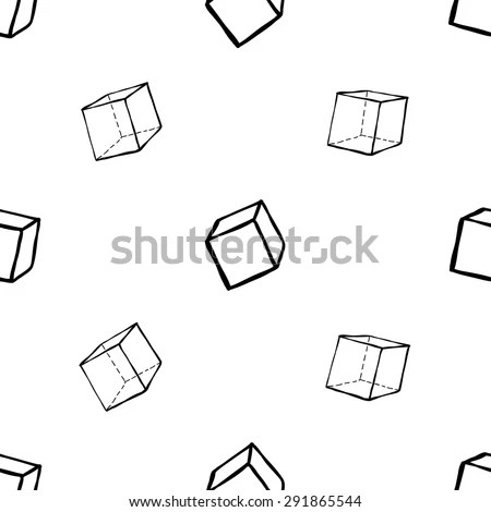 Outline Cube Stock Photos, Royalty-Free Images & Vectors