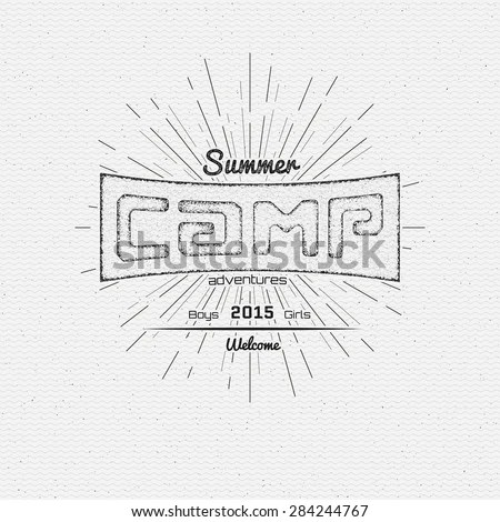 Summer Camp Flyer Stock Images, Royalty-Free Images