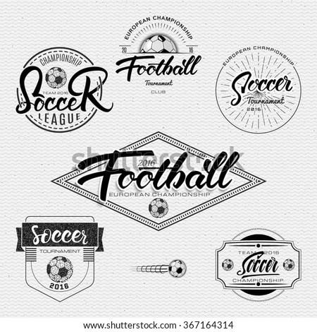 Set Monochrome Fitness Emblems Labels Badges Stock Vector