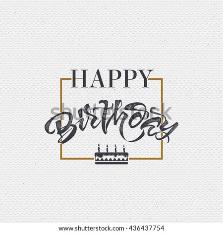 Happy Birthday Stamp Stock Images, Royalty-Free Images