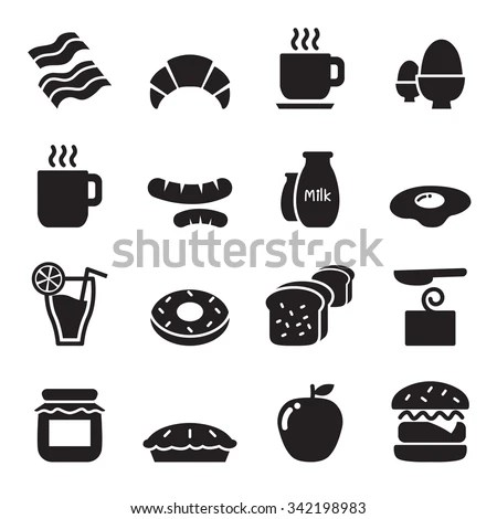 Breakfast Icon Stock Photos, Royalty-Free Images & Vectors