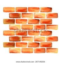 Watercolor Bricks Brick Wall Design Element Stock Vector ...