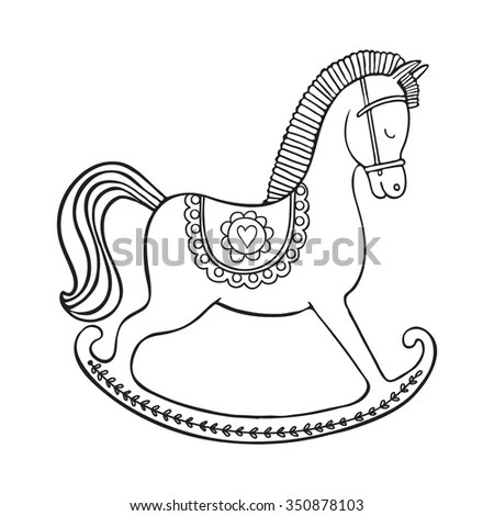 Horse Outline Stock Images, Royalty-Free Images & Vectors