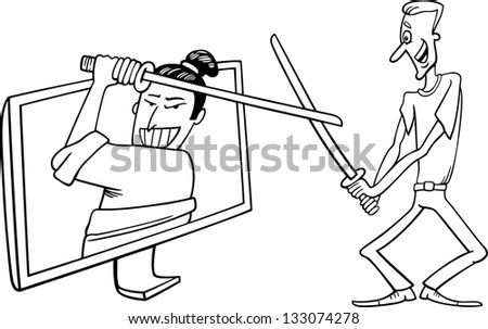 Televisions Fighting Stock Photos, Images, & Pictures