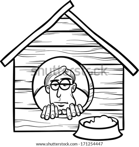 Man In Doghouse Stock Images, Royalty-Free Images