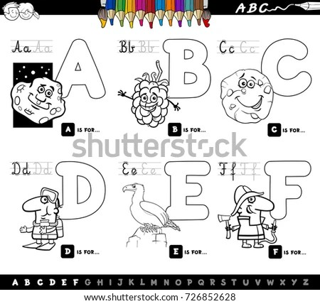 Cartoon Vector Illustration Funny Capital Letters Stock
