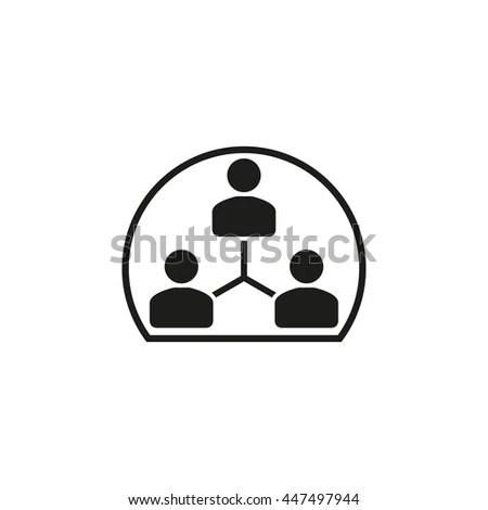 Human Interaction Vector Icon Black Illustration Stock