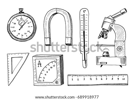 Microscope Sketch Stock Images, Royalty-Free Images
