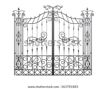 Metal Gate Stock Images, Royalty-Free Images & Vectors