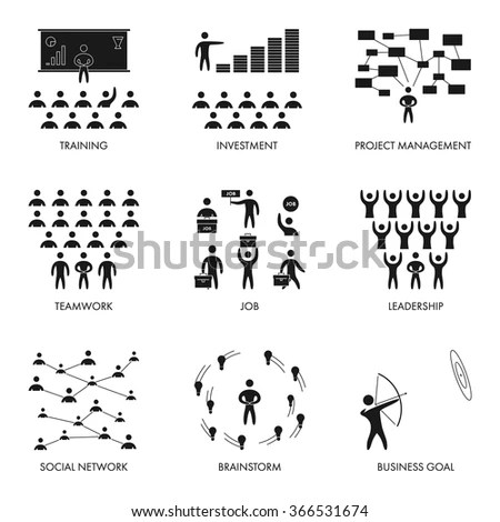 Business People Conflict Vector Set Modern Stock Vector