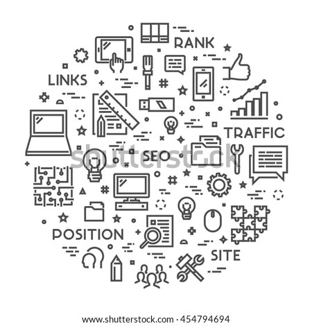 Doodle Design Style Concept Business Reporting Stock