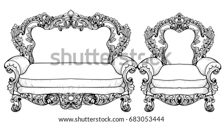 Luxurious Bed Modern Bedroom Interior Stock Illustration