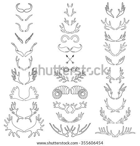 Vector Set Vintage Emblems Valentine Day Stock Vector