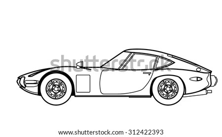 Car Line Drawing Stock Images, Royalty-Free Images