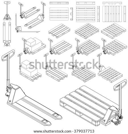 Manual Handling Lifting ภาพสต็อก, ภาพและเวกเตอร์ปลอดค่า
