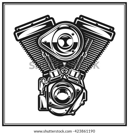 Motorcycle Engine Stock Images, Royalty-Free Images