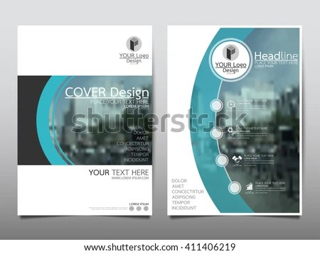 Blue Curve Technology Annual Report Brochure Stock Vector