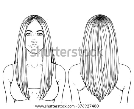 Hair Style Samples For Women Stock Images, Royalty-Free