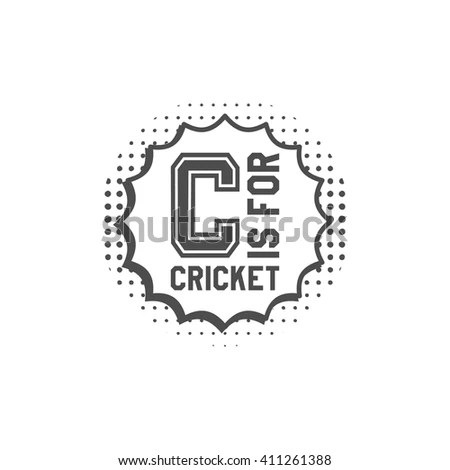 Cricket Monogram Emblem Design Elements Cricket Stock
